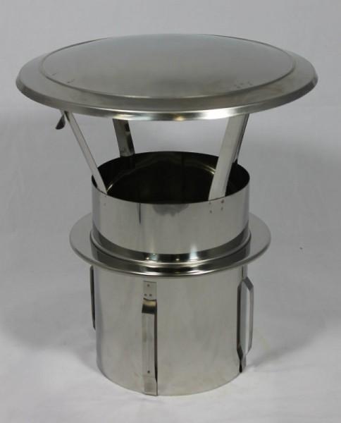 Capot anti-pluie pour tiroir en acier inoxydable DN 130 mm