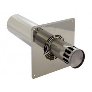 Holetherm schoorsteen/kachelpijp concentrisch wandverbindingselement DN 100/150 mm roestvrij staal