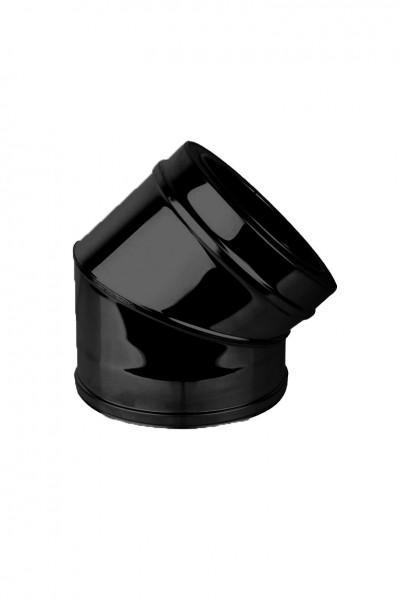 Coude 45° DN 150 à double paroi ISOTUBE Plus noir