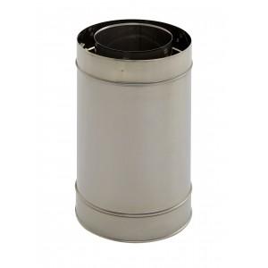 Holetherm schoorsteen/kachelpijp concentrisch lengte-element 250 mm DN 100/150 mm, roestvrij staal, Holetherm schoorsteen/kachelbuis