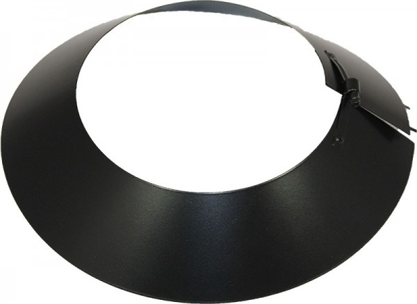 Collier de pluie DN 200 mm acier inoxydable ISOTUBE Plus noir