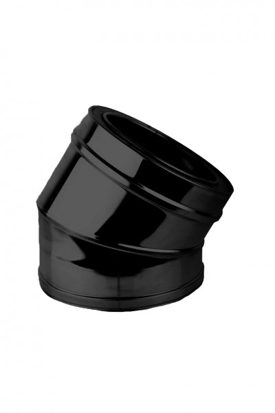 Bocht 30° DN 150 dubbelwandig ISOTUBE Plus zwart