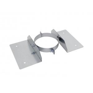 Holetherm schoorsteen/kachelpijp concentrische dakmontagebeugel DN 150 mm, roestvrij staal