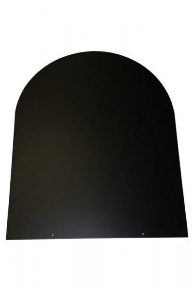Bodemplaat zwart staal 2 mm rondboog 1000 x 1000 - 32-110