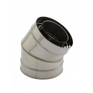 Cheminée/poêle Holetherm coude concentrique 30° DN 100/150 mm acier inoxydable