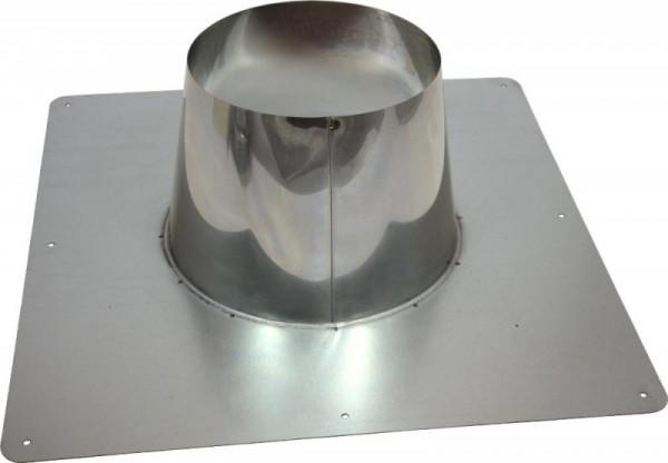 Cheminée/tuyau de poêle Holetherm Conduit de toit concentrique DN 100/150 mm acier inoxydable