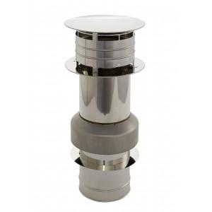 Cheminée Holetherm/tuyau de poêle élément de raccordement de toit concentrique DN 100/150 mm acier inoxydable
