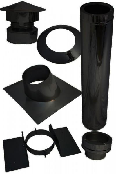 dakdoorvoer voor bitumen hellend dak in set zwart